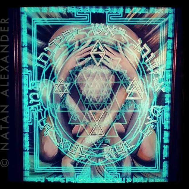Ararita, Illuminated Glass and Mixed Media